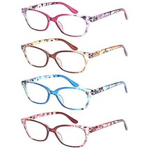 4 Pack Ladies Reading Glasses Spring Hinges Pattern Stylish Readers for ... - $13.78