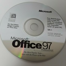 Microsoft Office 97 Professional   ~  SR-1 CD - $9.55