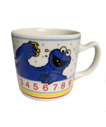 Vintage Sesame Street Cookie Monster Coffee Cup Mug Porcelain - $16.82