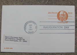 Post card Commemorative Inauguration Day 1981 Kennebunkport , ME Ronald ... - $9.98