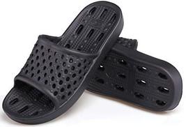 Hucook Shower Shoes Bathroom Sandals for Men Non Slip Bath Slippers Soft... - $12.73