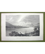 GERMANY Saxony Banks of River Elbe at Raden - 1820s Copper Engraving Cpt... - $9.00