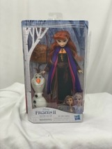 Disney Frozen 2 Anna Doll With Buildable Olaf Figure and Backpack Accessory - $16.83