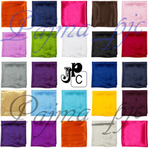 "12"" x 12"" Men's Satin Solid Hankie  Handkerchief Pocket Square Hanky onl... - $5.95"