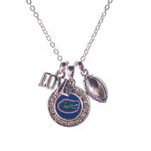 """Florida Gators Love, Football, and Logo Charms 16"""" Necklace - €10,19 EUR"""