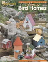 Plastic Canvas Pattern Booklet-8 Fancy Bird Homes-Stitched  on 7 Count  - $5.86
