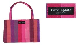 Kate Spade Small Multi Colored Shantung Silk To... - $42.00