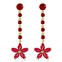 4.8 CTW 14K Solid Gold Chandelier Earrings Ruby - $636.42