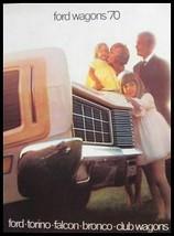 1970 Ford Station Wagon Brochure Torino Falcon Bronco - $19.54