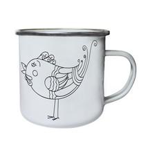 Bird Retro Cute Art Retro,Tin, Enamel 10oz Mug o222e - $13.13