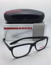 Prada Sport Brille Vps 02G UB7-1O1 54-17 Glänzend Schwarz Farbverlauf