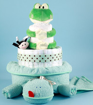Friendly Frog Diaper Cake Baby Gift - $148.00