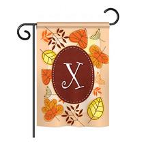 "Autumn X Initial - 13"" x 18.5"" Impressions Garden Flag - G180050 - $17.97"