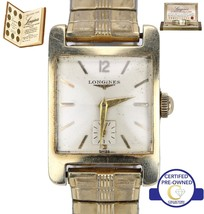 Vintage Longines 14K Yellow Gold Mechanical Flexible Bracelet 35x25mm Watch - $449.95