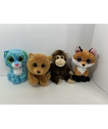 Ty Beanie Baby Boos lot plush Vines monkey Brownie bear Slick fox Leona ... - $19.79