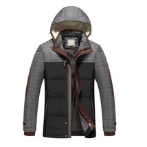 Brand Winter Jacket Men Fashion M-5XL New Arrival Casual Slim Cotton Thi... - $74.83