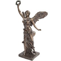 12.75 Inch Bronze Colored Winged Victory Reconstructed Figurine - $44.55