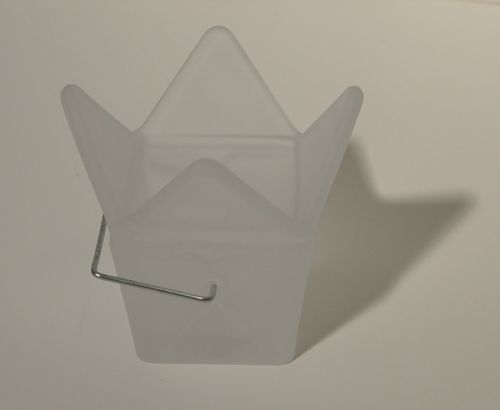 Design Ideas 75141F Frosted White Chinese Takeout Box Candle Holder
