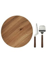 NEW Sagaform Oval Oak Lazy Susan with Cheese Knives Fast Shipping - £30.54 GBP
