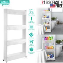 Rolling 3/4 Shelf Slim Can Spice Rack Holder Cart Home Kitchen Storage C... - $18.29+