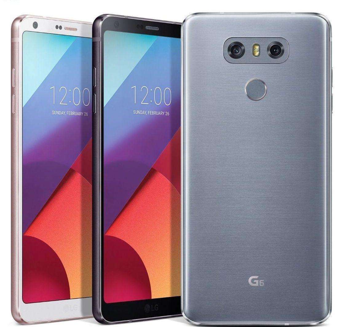 LG G6 Smart Phone LGM-G600 / Ice Platinum Color / Android 7.0 Nougat / 64GB UFS