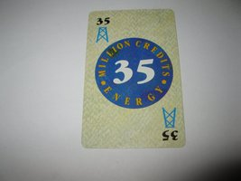 1986 Power Barons Board Game Piece: $35 Million Credits Energy card - $1.00