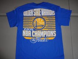 NWT Blue Golden State Warriors 2015 NBA Finals Champions Basketball T Shirt M image 2