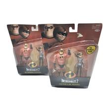 Disney Pixar The Incredibles 2 Elastigirl & Mr. Incredible Figures Lot Of 2 - $12.86