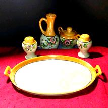 Beautiful vintage platter set~Made in Japan - $59.40