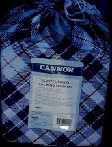 Cannon Microflannel Cal. King Sheet Set - Brand New Package - Nice Plaid - Soft - $49.49