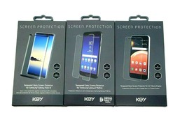 Key - Tempered Glass Screen Protector for Samsung J7 Note 8 Lg Tribute E... - $9.99