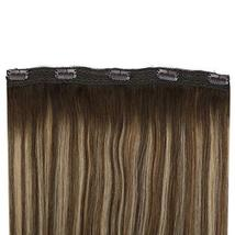 Ugeat 18inch One Piece Hair Extensions Clip in Real Human Hair #4/27/4 Balayage  image 7