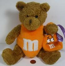 Galerie M&M Halloween Bear w/Orange Bag Trick or Treat 2002 No Hangtag - $11.99