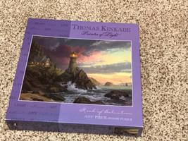 Thomas Kinkade Painter of Light 1,000 Piece Puzzle Rock of Salvation 2009 - $29.69