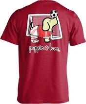 Puppie Love Rescue Dog Men Women Short Sleeve Graphic T-Shirt, Soccer Pup image 1