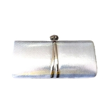 Silver Fashion Party Clutch with chain - £38.05 GBP