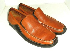 Cole Haan Men's Brown Leather Slip On Driving Moc Loafers Shoes 13 Med - $44.00