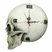 Gothic Tempore Mortis Vault Skull Wall Clock Scary Decor Creepy Skeleton... - $39.39