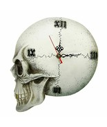 Gothic Tempore Mortis Vault Skull Wall Clock Scary Decor Creepy Skeleton... - $39.39