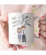 The Office We Belong Together Like Jim and Pam Coffee Mug White 11oz Cer... - $14.99