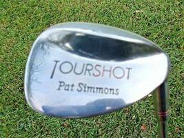 Pat Simmons TOUR SHOT SAND WEDGE RH Steel Shaft REGULAR VTG ORG GRIP - $21.20