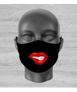 Face mask cover red kiss me lips toon fun 3d party fashion Unisex adult ... - $7.81