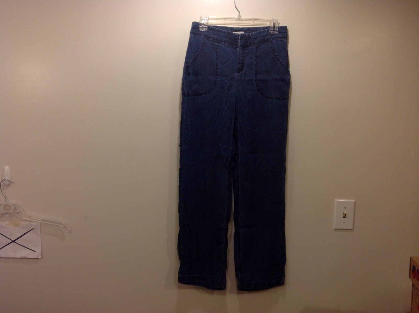 Coldwater Creek Denim-like Blue Pocketed Pants Sz 6