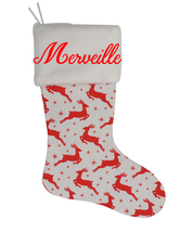 Merveille Custom Christmas Stocking Personalized Burlap Christmas Decora... - $17.99