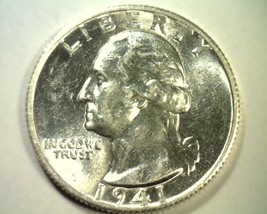 1941-S WASHINGTON QUARTER CHOICE ABOUT UNCIRCULATED++ CH. AU+ NICE ORIGINAL - $29.00