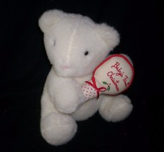 "10"" VINTAGE EDEN BABY'S FIRST CHRISTMAS TEDDY BEAR RATTLE STUFFED ANIMAL... - $61.29"