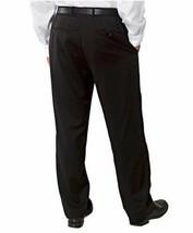 Nwt Kirkland Signature Herren Wolle Flach Vorne Kleid Hose Hosen Dunkelgrau image 2