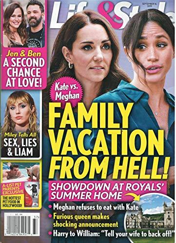 Primary image for Life & Style Magazine September 16 2019 Kate Vs. Meghan Family Vacation From Hel