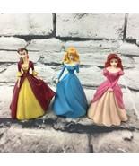 "Disney Princess Figures 3"" Dolls Lot Of 3 Belle Aurora Ariel Cake Topper... - $9.89"