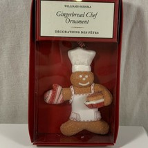 Williams Sonoma Gingerbread Chef Christmas Ornament 2012 New in box - $7.42